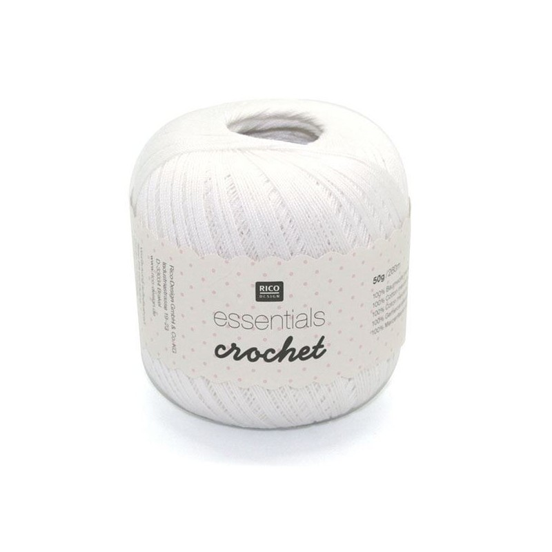 Essentials crochet white 001