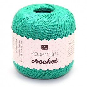 Fil pour crochet Rico Essentials crochet emerald 008