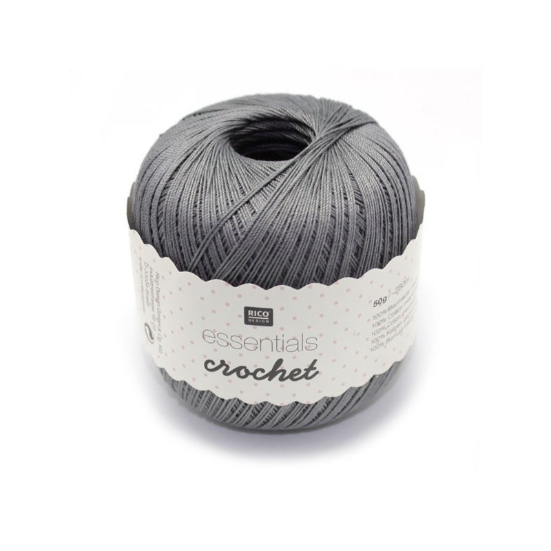 Essentials crochet steel grey 019