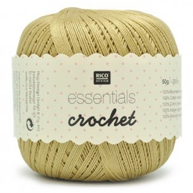 Fil pour crochet Rico Essentials crochet gold 025