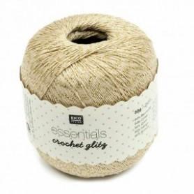 Fil pour crochet Rico Essentials crochet glitz beige 002