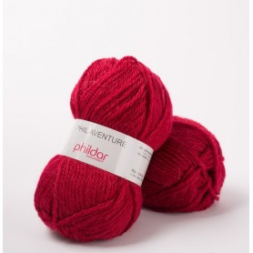 Yarn Phil Aventure cerise