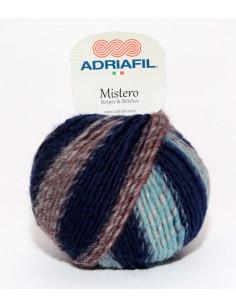 Yarn Mistero Stripes blue-brown-red 92