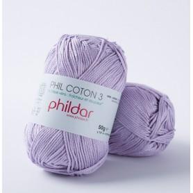 Crochet yarn Phil Coton 3 lavande