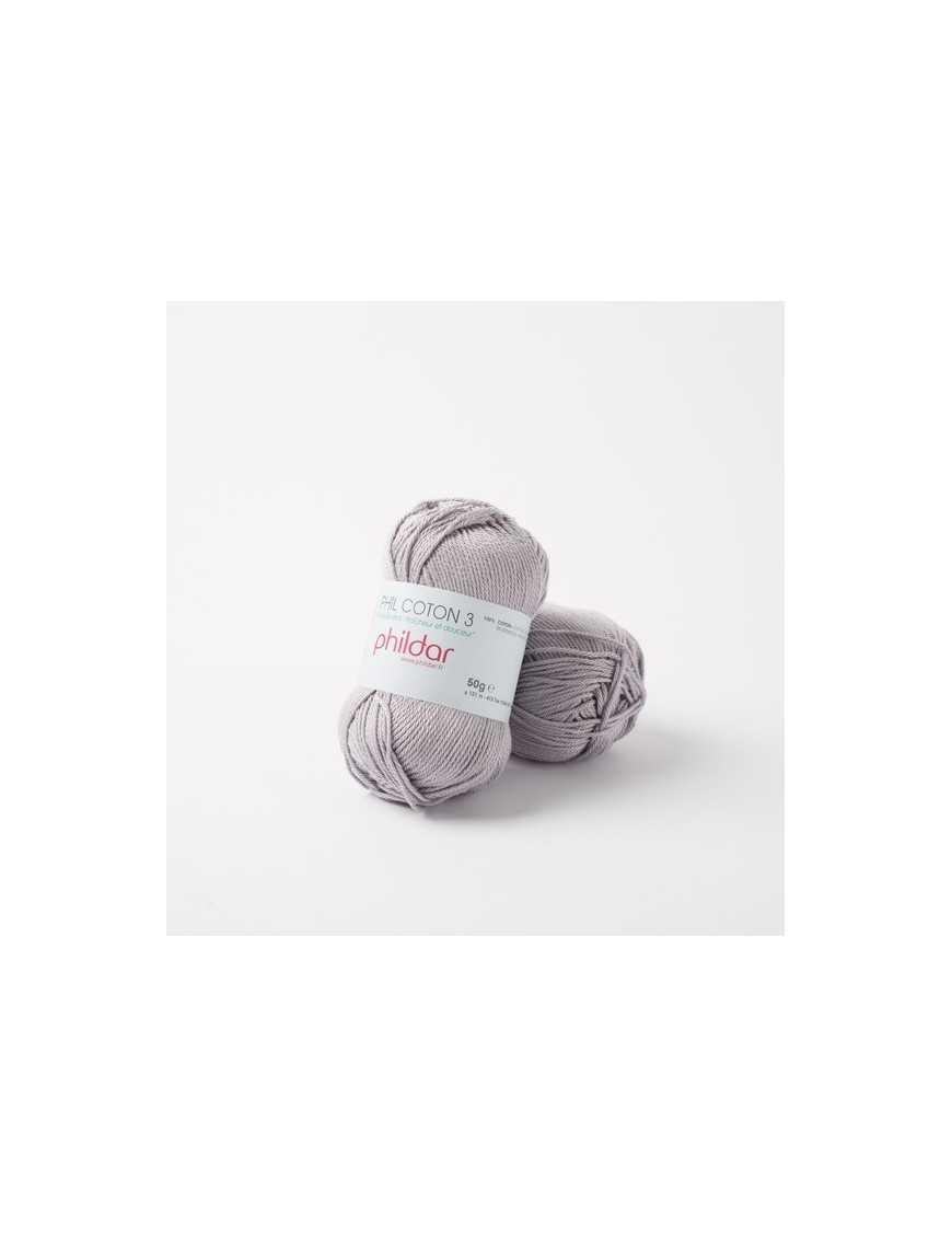 Crochet yarn Phil Coton 3 silver