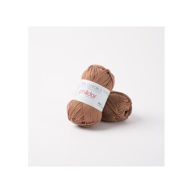 Crochet yarn Phil Coton 3 cappucino