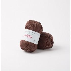 Crochet yarn Phil Coton 3 cacao