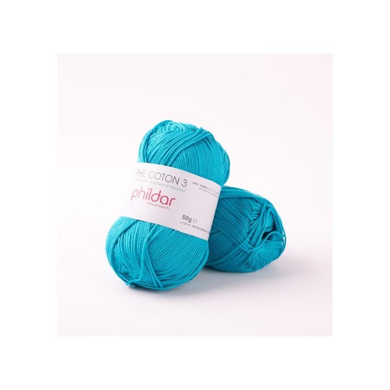 Crochet yarn Phil Coton 3 curacao