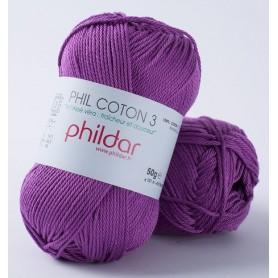 Crochet yarn Phil Coton 3 clematite
