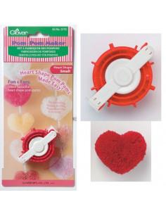 Pompon maker Clover heart shape