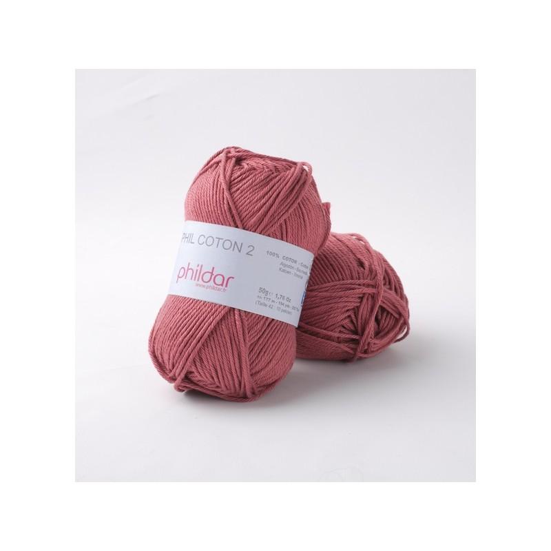Phildar fils à crocheter Phil Coton 2 rosewood 94 67a9451f921