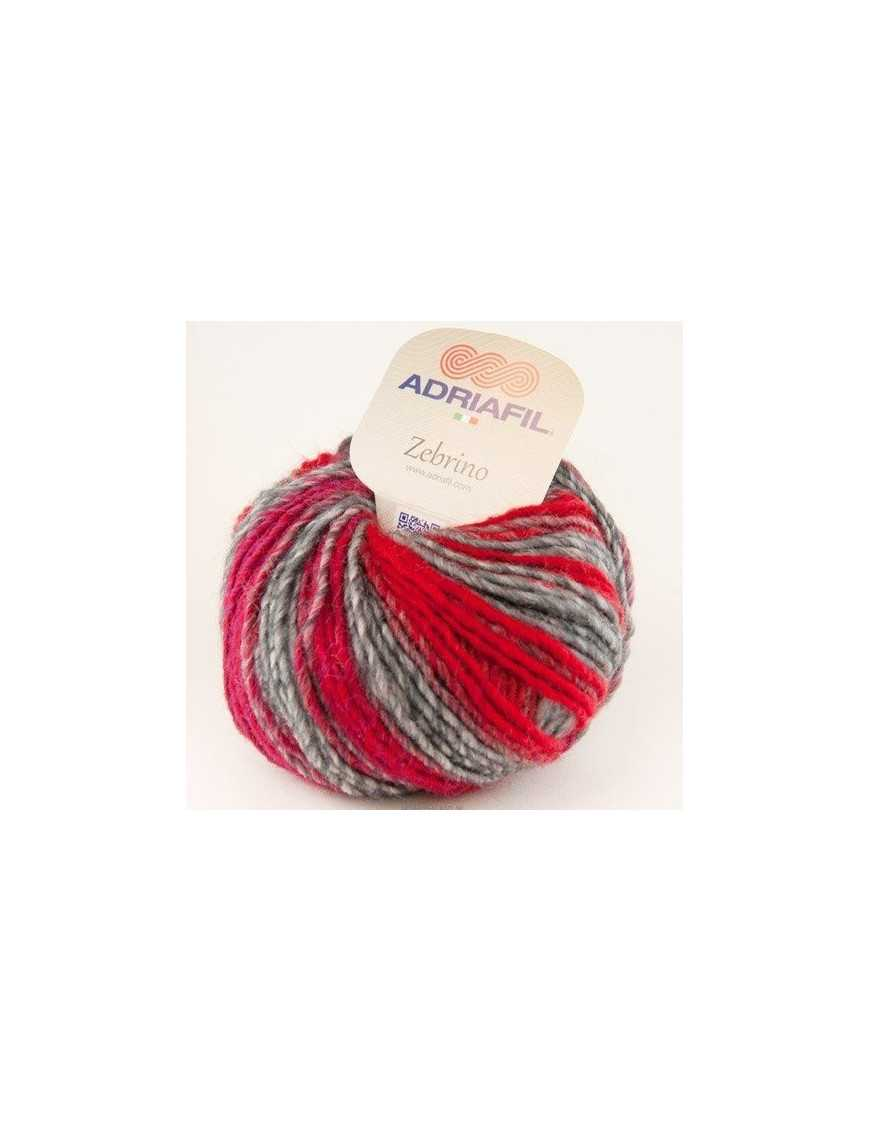 Adriafil Zebrino multi-red fancy