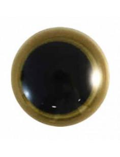 Animal eye 15 mm gold
