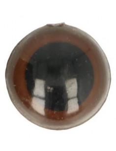 Animal eye 15 mm brown